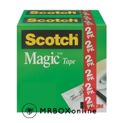 3M Scotch Magic Tapes 3/4x28yds 2 ROLLS
