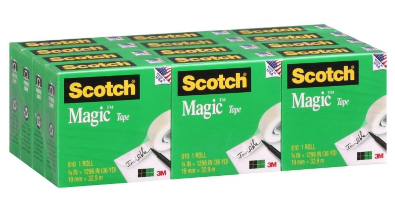 3M Scotch Magic Tapes 3/4x1296 12 ROLLS