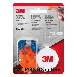 3M Corded Reusable Earplugs