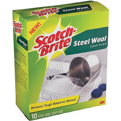 3M Scotch-Brite Steel Wool Soap Scouring Pad