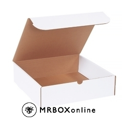 12x11x3.25 White Die Cut Literature Mailer Boxes