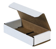 6.5x3.25x1.25 White Die Cut Mailer Boxes