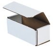 6x2.5x2.375 White Die Cut Mailer Boxes