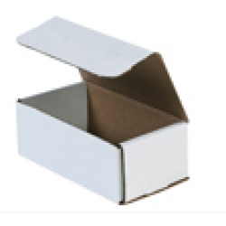 6.5x3.625x2.5 White Die Cut Mailer Boxes