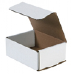 6.5x4.875x2.625 White Die Cut Mailer Boxes