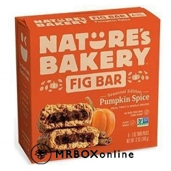 Nature's Bakery Pumpkin Fig Bars $325 order