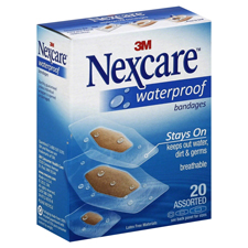 3M Nexcare Waterproof Bandages 20 ct