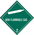 "4""x4\"" Non Flammable Gas Labels"