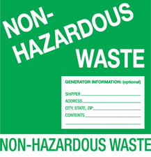 "6""x6\"" Non-Hazardous Waste Labels"