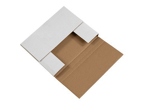 10.25x8.25x1.25 Multi Depth One Piece Folder Box White