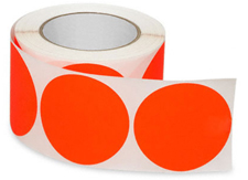 "3"" Fluorescent Orange Circle Label"