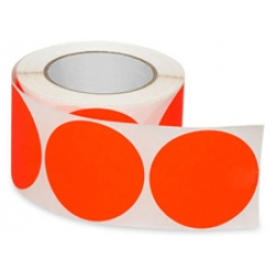 3 Fluorescent Orange Circle Label