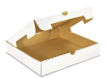 10x10x2 White Corrugated Pizza Box