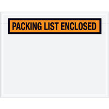 "7""x5.5\"" Orange Packing List Enclosed"