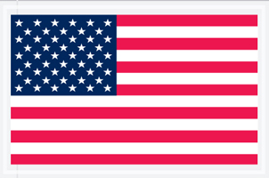 "5.25""x8\"" USA Flag Packing List Envelope"