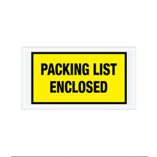 "5.5""x10"" Yellow Packing List Enclosed Envelopes"
