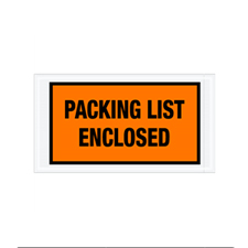 "5.5""x10\"" Orange Packing List Enclosed Envelopes"