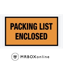 5.5x10 Orange Packing List Enclosed Envelopes