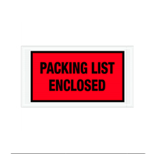 "5.5""x10"" Red Packing List Enclosed Envelopes"