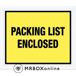 10x12 Yellow Packing List Enclosed Envelopes