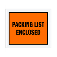 "10""x12"" Orange Packing List Enclosed Envelopes"