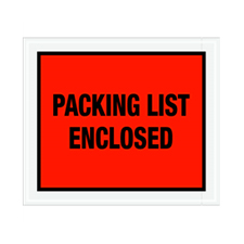 "10""x12"" Red Packing List Enclosed Envelopes"