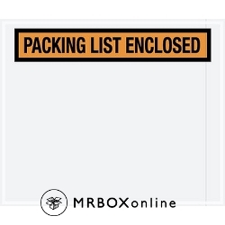 10x12 Orange Packing List Enclosed Envelopes