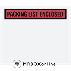 10x12 Red Packing List Enclosed Envelopes