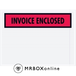 4.5x6 Invoice Enclosed Red Envelope
