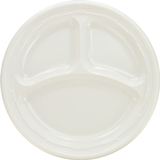 10.25 inch  3 Compartment plate