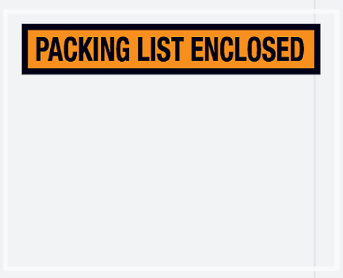 7x5.5 Orange Packing List Enclosed
