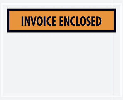 4.5x5.5 Invoice Enclosed Packing Envelopes