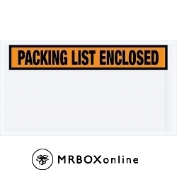 5.5x10 Packing List Enclosed Envelopes