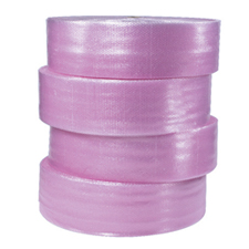 "3/16""x300\' 4 rolls of 12\"" Pink Antistatic Bubble P12"