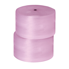 "3/16""x300\' 2 rolls of 24\"" Pink Antistatic Bubble Wrap Perfed 12"