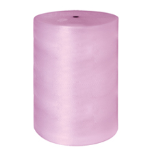 3/16x300\' 1 roll of 48 Pink Antistatic Bubble Wrap Perfed 12