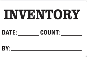 "3""x5"" Inventory Labels"