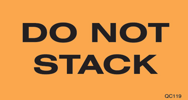 "3""x5\"" Do Not Stack Labels"