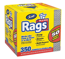 SCOTT� Rags In A Box 350 count