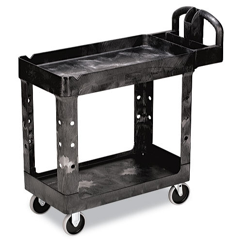 Rubbermaid Heavy Duty Utility Cart Two Shelf