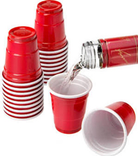 Red Plastic Shot Cups 2 ounces