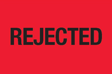 "2""x3\"" Rejected Labels Fluorescent Red"