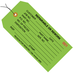 Repairable or Rework Green Inspection Tags