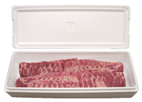 23x10.25x7.375-30 Quart Large Salmon Styrofoam Cooler
