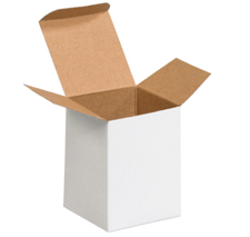 3x3x4 White Chipboard Boxes