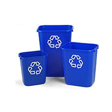 Trash Cans and Recycling Contain