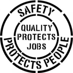 Safety Protects People Floor Stencil