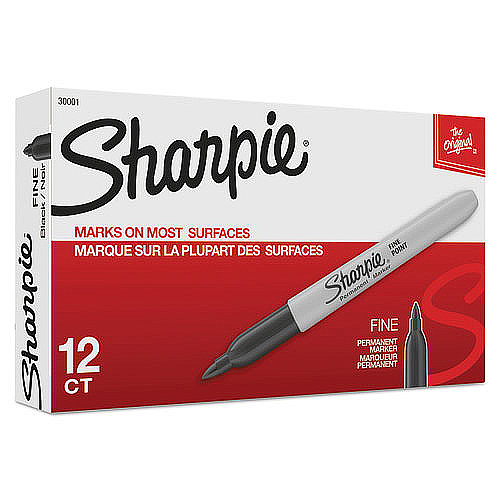 Sharpie Fine Point Black Markers