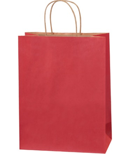 10x5x13 Scarlet Tinted Shopping Bags