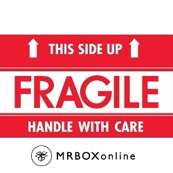 3x5 This Side Up Fragile Handle With Care label